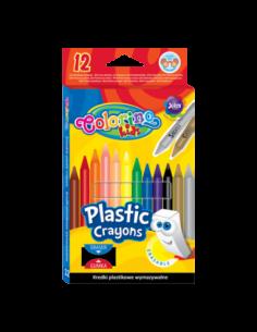 Erasable Plastic Crayons 12...
