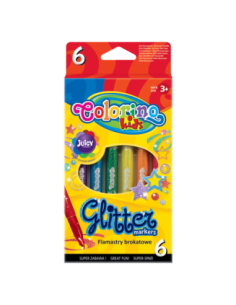Glitter Markers 6 colours