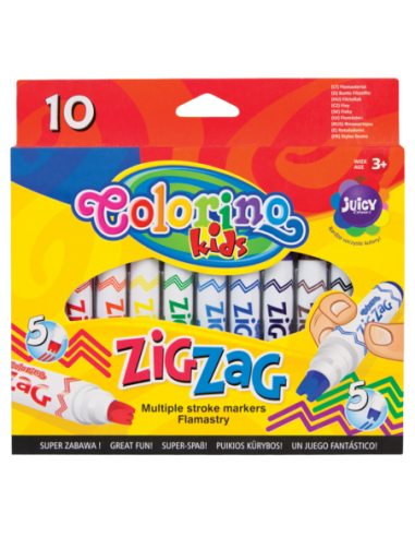 Flamastry ZIG ZAG 10 kolorów