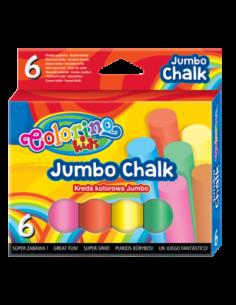 Jumbo Coloured Chalk 6 colours