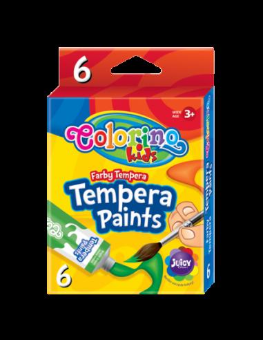 Farby tempera w tubach 12 ml 6 kolorów