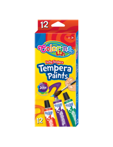 Tempera Paints in Tubes 12ml 12 colours