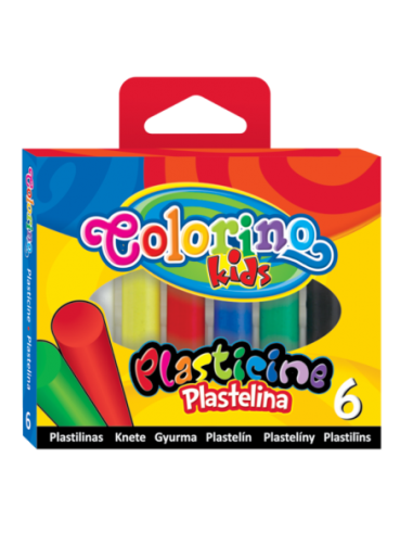 Plastelina okrągła 6 kolorów