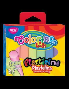 Plasticine Glow 6 colours