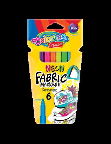 Markery do tkanin Neon 6 kolorów