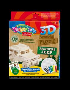3D Wooden Puzzle Jeep