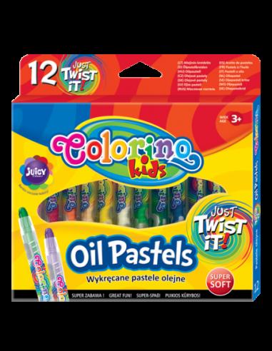 Pastele olejne wykręcane 12 kolorów