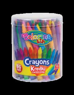 Kredki świecowe 64 kolory